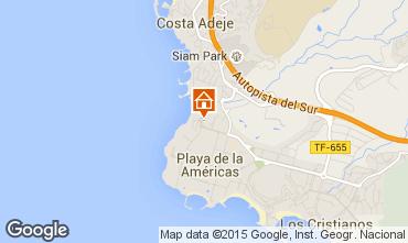 Kaart Playa de las Américas Appartement 96329