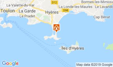 Kaart Hyères Appartement 118190