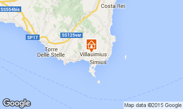 Kaart Villasimius Appartement 58604