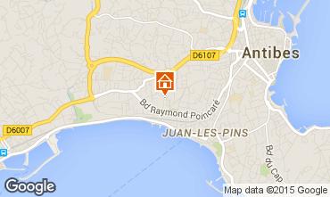 Kaart Juan les Pins Appartement 80031