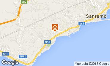 Kaart Sanremo Appartement 39338