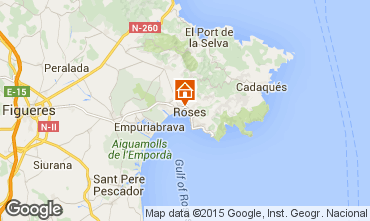 Kaart Rosas Appartement 68460