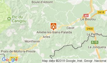 Kaart Amélie-Les-Bains Studio 79307