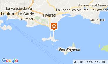 Kaart Hyères Villa 106297