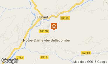 Kaart Flumet Val d'Arly Appartement 80441