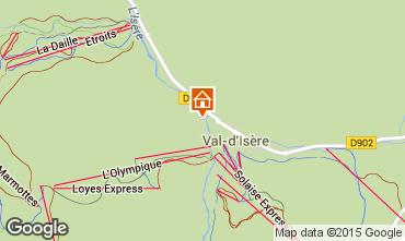 Kaart Val d'Isère Appartement 50921