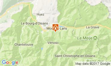 Kaart Les 2 Alpes Studio 100442