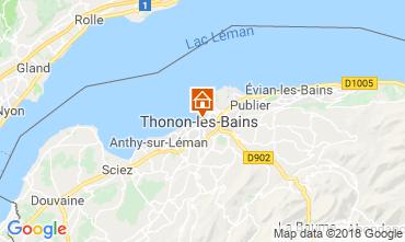 Kaart Thonon Les Bains Appartement 114583
