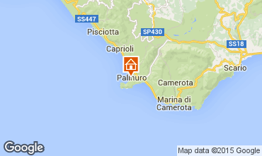 Kaart Palinuro Appartement 64116
