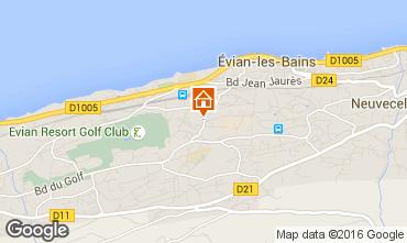 Kaart Evian les Bains Appartement 102399