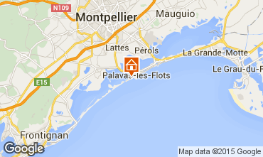 Kaart Palavas-les-Flots Appartement 26554