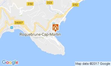 Kaart Roquebrune Cap Martin Appartement 81034