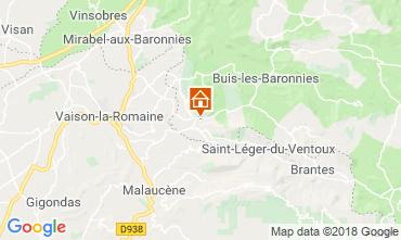 Kaart Vaison la Romaine Huis 115901