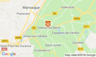 Kaart Gréoux Les Bains Villa 117404