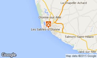 Kaart Les  Sables d'Olonne Appartement 59909