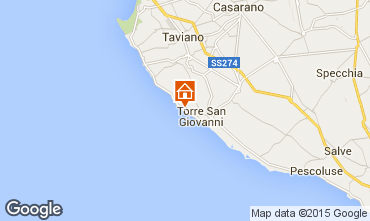 Kaart Ugento - Torre San Giovanni Villa 79989