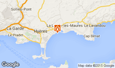 Kaart Hyères Appartement 5835