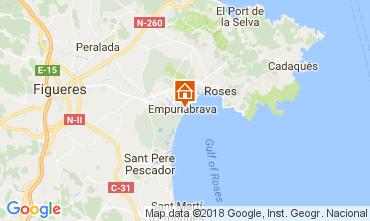 Kaart Empuriabrava Appartement 112753