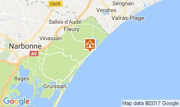 Kaart Saint Pierre la Mer Villa 112420