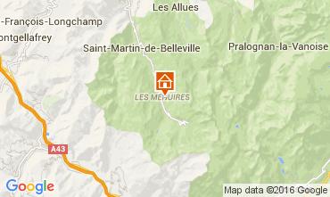 Kaart Les Menuires Studio 39459