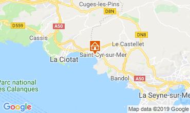 Kaart Saint Cyr sur Mer Appartement 119367