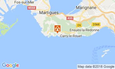 Kaart Sausset Les Pins Villa 115614