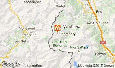 Kaart Les Crosets Appartement 4697
