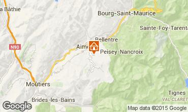 Kaart Les Arcs Vakantiehuis 100022