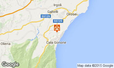 Kaart Cala Gonone Huis 78172
