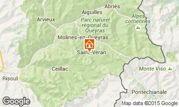 Kaart Molines Saint-Véran Chalet 1575