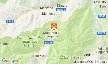 Kaart Madonna di Campiglio Appartement 28711