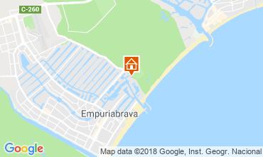 Kaart Empuriabrava Appartement 82724