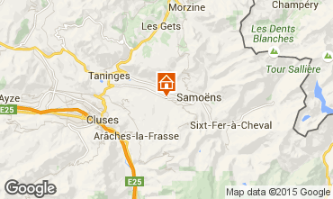 Kaart Morillon Grand Massif Chalet 66506