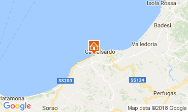Kaart Castelsardo Appartement 83489