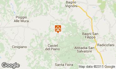 Kaart Montalcino Appartement 74222
