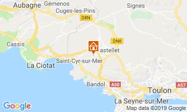 Kaart La Cadière d'Azur Huis 96924