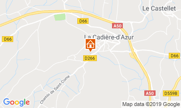 Kaart La Cadière d'Azur Villa 96924