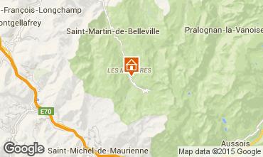 Kaart Les Menuires Appartement 1761