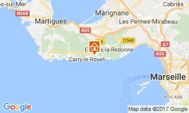 Kaart Carry le Rouet Villa 112762