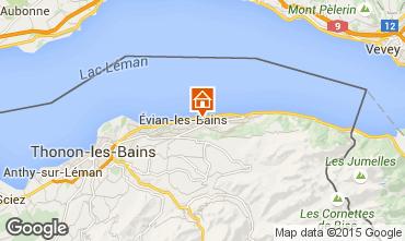 Kaart Evian les Bains Vakantiehuis 14092