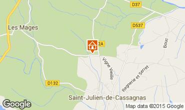 Kaart Barjac Vakantiehuis 95346