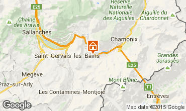 Kaart Chamonix Mont-Blanc Appartement 65414