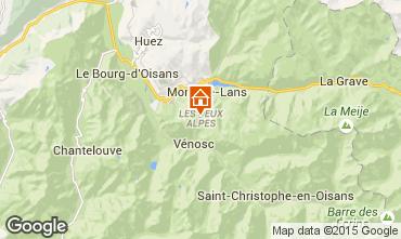 Kaart Les 2 Alpes Studio 1201