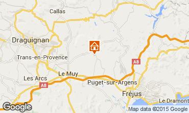 Kaart Roquebrune sur Argens Villa 76912