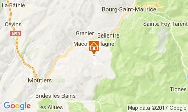 Kaart La Plagne Chalet 31596