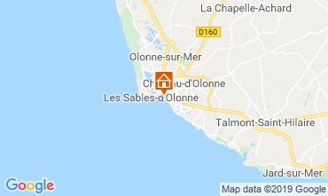 Kaart Les  Sables d'Olonne Appartement 117862