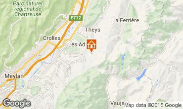 Kaart Les Sept Laux Appartement 96933
