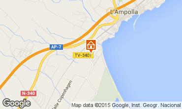 Kaart L'Ampolla Villa 101811