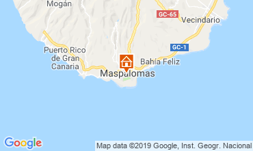 Kaart Maspalomas Appartement 104988