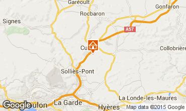 Kaart Hyères Villa 45657